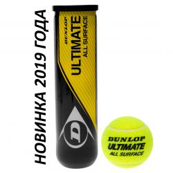 Теннисные мячи Dunlop Ultimate All Surface 4ball