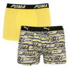 Трусы Puma Logo AOP Boxer 2-pack Yellow/Gray